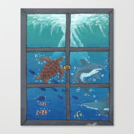 Window To The Sea Canvas Print