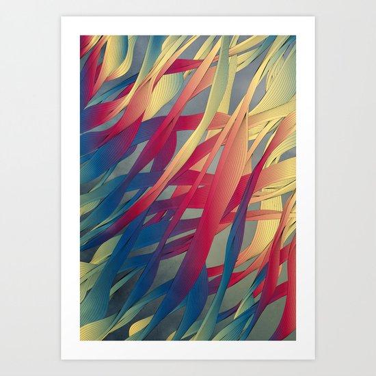 Modern Aquatic Nightsongs Art Print