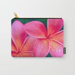 Aloha Hawaii Kalama O Nei Pink Tropical Plumeria Carry-All Pouch