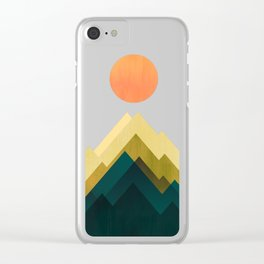 Gold Peak Clear iPhone Case