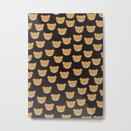 teddy bear pattern Metal Print