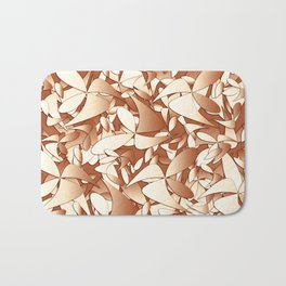 Pattern brown 156 Bath Mat
