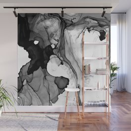 Soft Black Marble Wall Mural