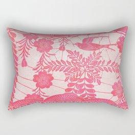 Flying Bird in Pink Rectangular Pillow