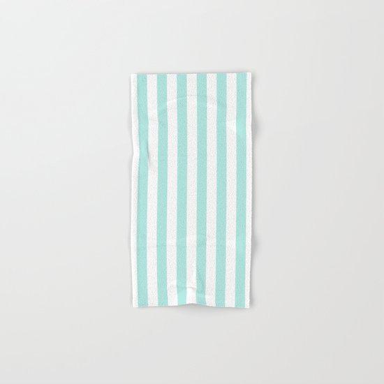 Aqua Stripes vertical- Beautiful maritime pattern Hand & Bath Towel