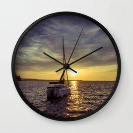 Sail into the Sun Wall Clock