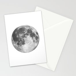 Full Moon phase print black-white monochrome new lunar eclipse poster home bedroom wall decor Stationery Cards