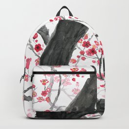 red plum flower forest Backpack