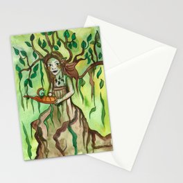 Dryad with a Tray Stationery Cards