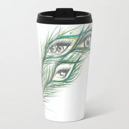 Peacock Eyes  Travel Mug