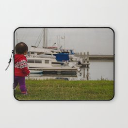Girl At The Pier Laptop Sleeve