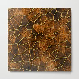 Mosaic LORA,warm brown Metal Print