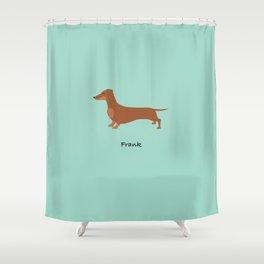 Frank the Dachshund Shower Curtain