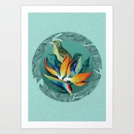 PARADISE BIRDS Art Print