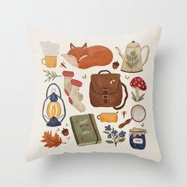 Woodland Wanderings Throw Pillow