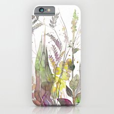 Wild flowers III, watercolor Slim Case iPhone 6s