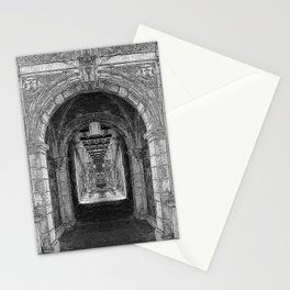 Black And White Church Interior Stationery Cards