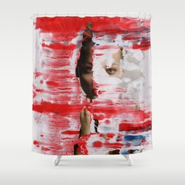 Red 001 Shower Curtain