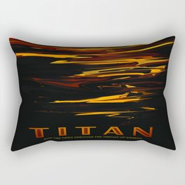 Titan : NASA Retro Solar System Travel Posters Rectangular Pillow
