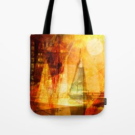 Coming home to harbour Tote Bag