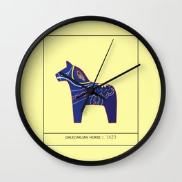Dalecarlian Horse Wall Clock