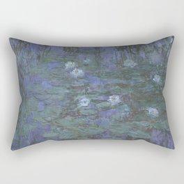 Claude Monet Water Lilies blue Rectangular Pillow