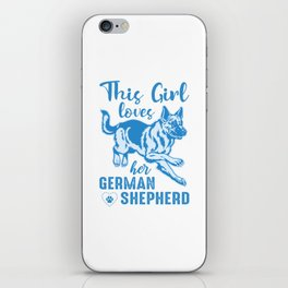 This Girl Loves Her German Shepherd wb iPhone Skin
