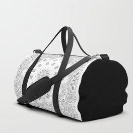 Bandana - White & Grays - Southwestern - Paisley Duffle Bag