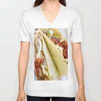 taco V-neck T-shirts featuring Taco  by Spotted Heart