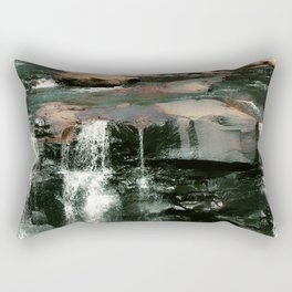 Trickling Waterfalls in the Forest Rectangular Pillow
