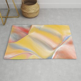 digital pastel with yellow and green Rug