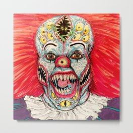 Scary Clown Metal Print