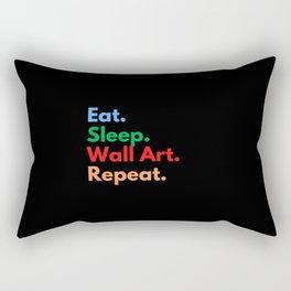 Eat. Sleep. Wall Art. Repeat. Rectangular Pillow