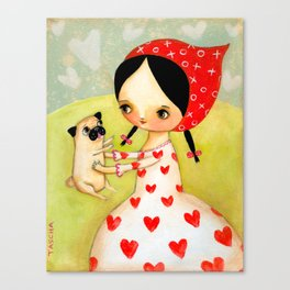 For the LOVE of PUGS Canvas Print