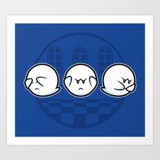 Boo No Evil Art Print