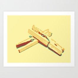 Clothespins aka clothes pins Art Print