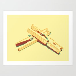 Clothespins aka clothes pins Art Print
