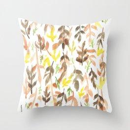 170814 Leaves Watercolour 4 Throw Pillow