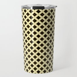 Batik Kawung Brown Ethnic Pattern Travel Mug