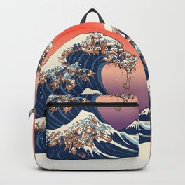 The Great Wave of Dachshunds Backpack