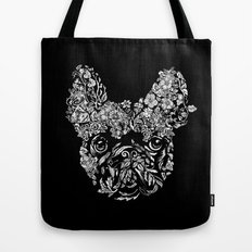 Botanical frenchie Tote Bag