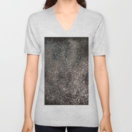Silver Glitter #1 #decor #art #society6 Unisex V-Neck