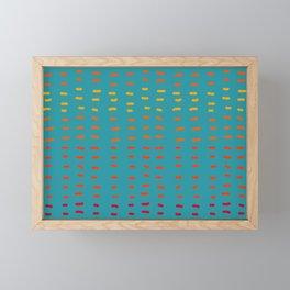 Fiesta at Festival - Turquoise and Orange  Framed Mini Art Print