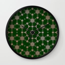 archaic pattern. crop circle. sacred geometry Wall Clock