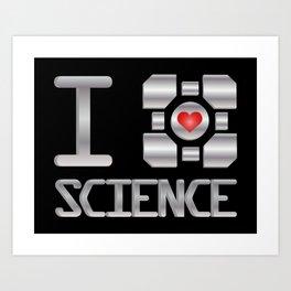 I heart Science Art Print