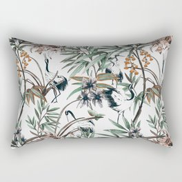 Asian crane pattern - 02 Rectangular Pillow