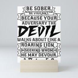 1 Peter 5:8 Mini Art Print