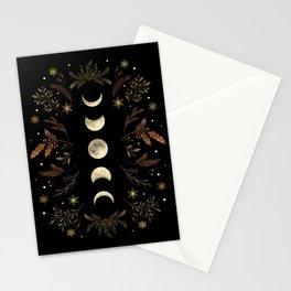 Moonlight Garden - Winter Brown Stationery Cards