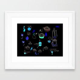 Supersaft = superjuice gives you super powers Framed Art Print