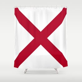 Flag of Alabama-Alabaman,south,birmingham,Montgomery,Jazz,blues,countryside,bible belt,cotton,usa,us Shower Curtain